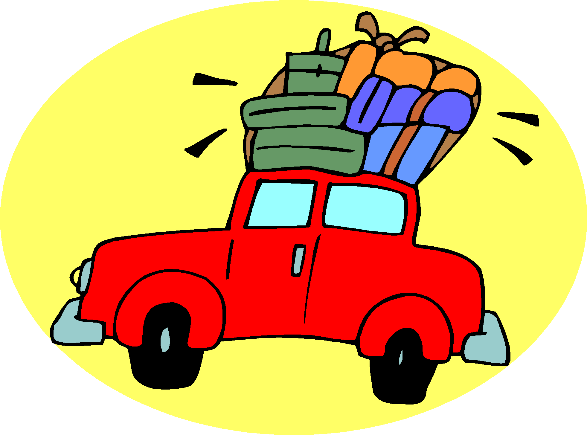 road trip clipart animated