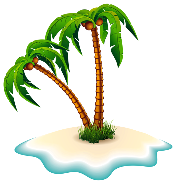 palm trees clipart island