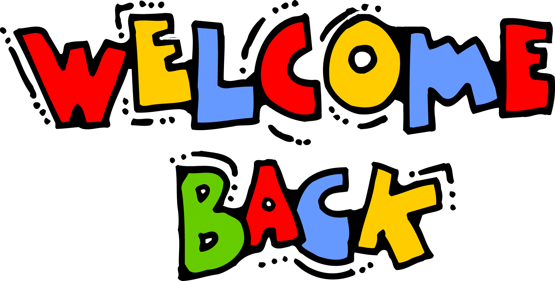 welcome back clipart transparent background