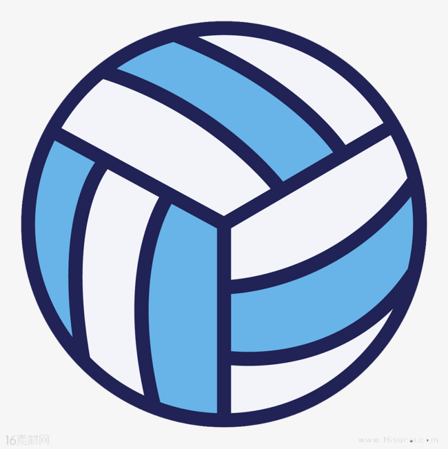 volleyball clipart blue