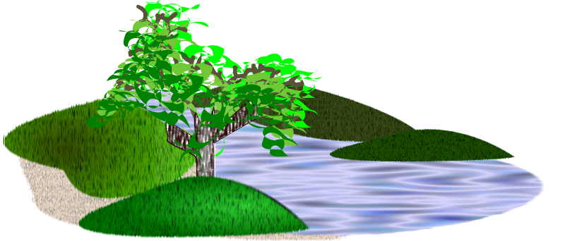 Water clipart scenery.