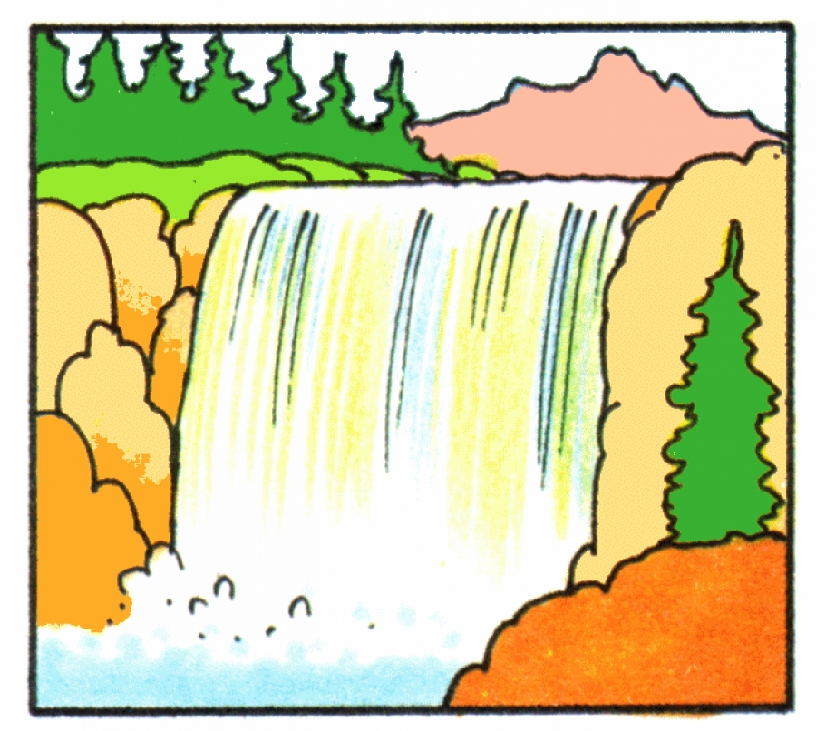 Water clipart waterfall.