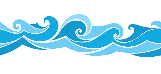 wave clipart vector