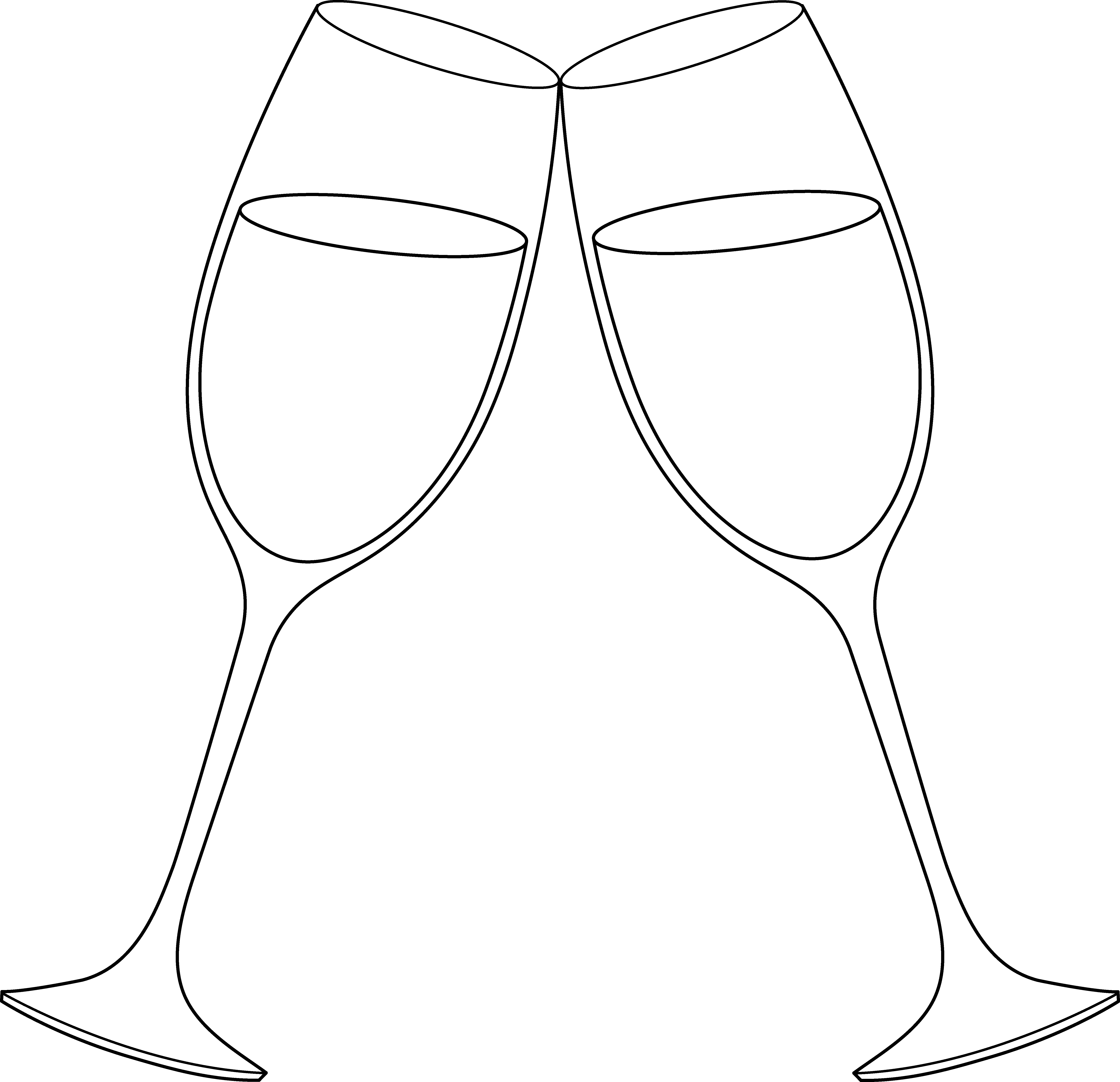 wine glass clipart toasting