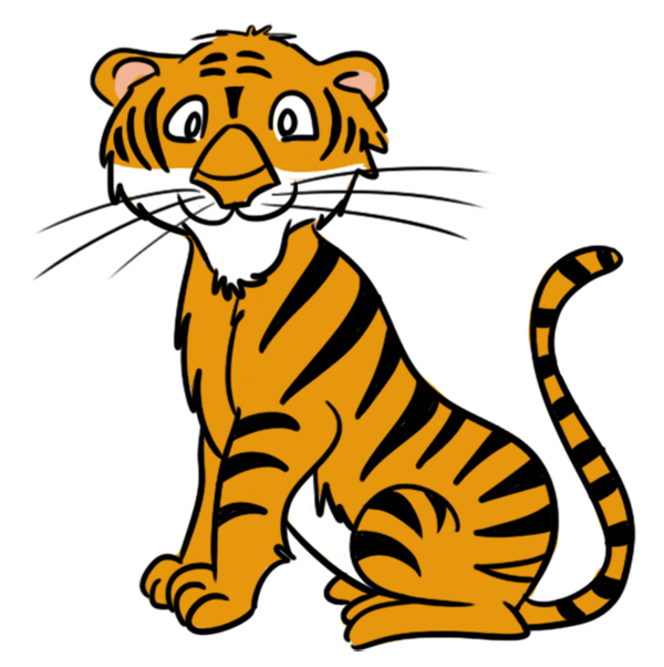 tiger clipart animated