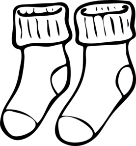 sock clipart outline