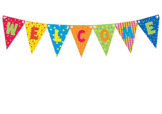 Welcome clipart banner.