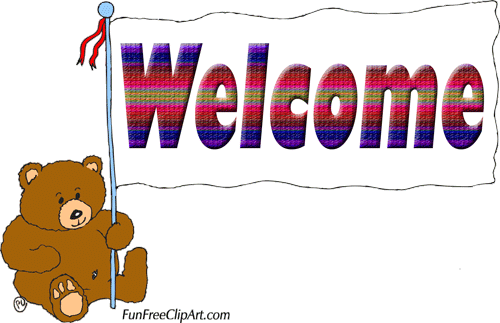 Welcome clipart signs.