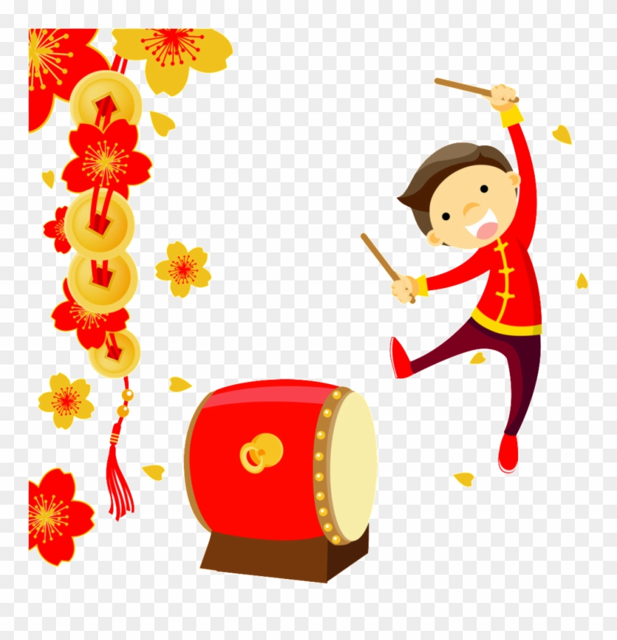drum clipart chinese