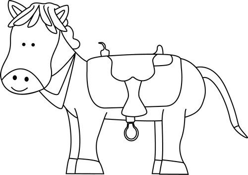 pony clipart outline