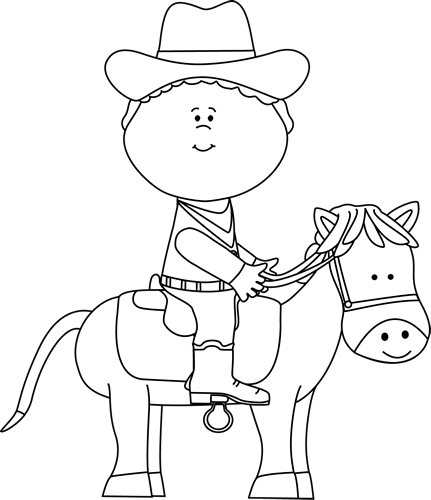 horse clipart black and white western