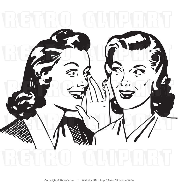 chuchoter clipart whispering