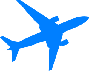 clipart airplane blue