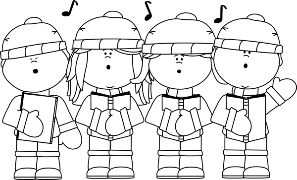 free black and white clipart christmas