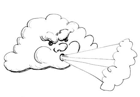 Wind clipart angry.