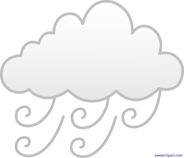 cloudy clipart windy