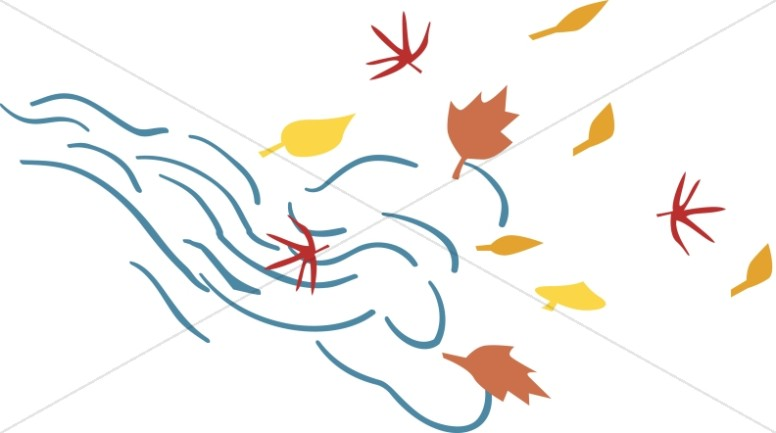 wind clipart leaves