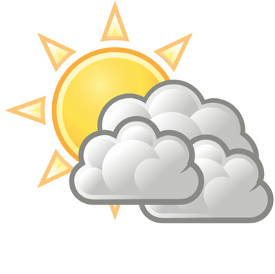 cloudy clipart partly