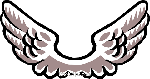 Wing clipart vector.