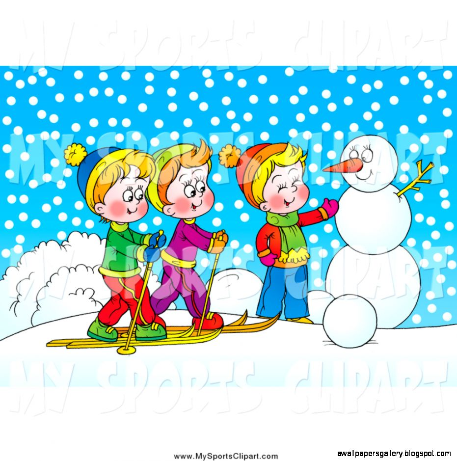 Winter clipart first day.