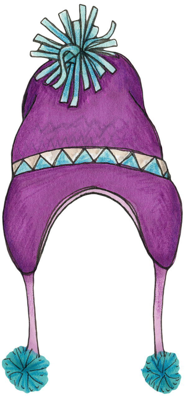 Winter hat clipart purple.