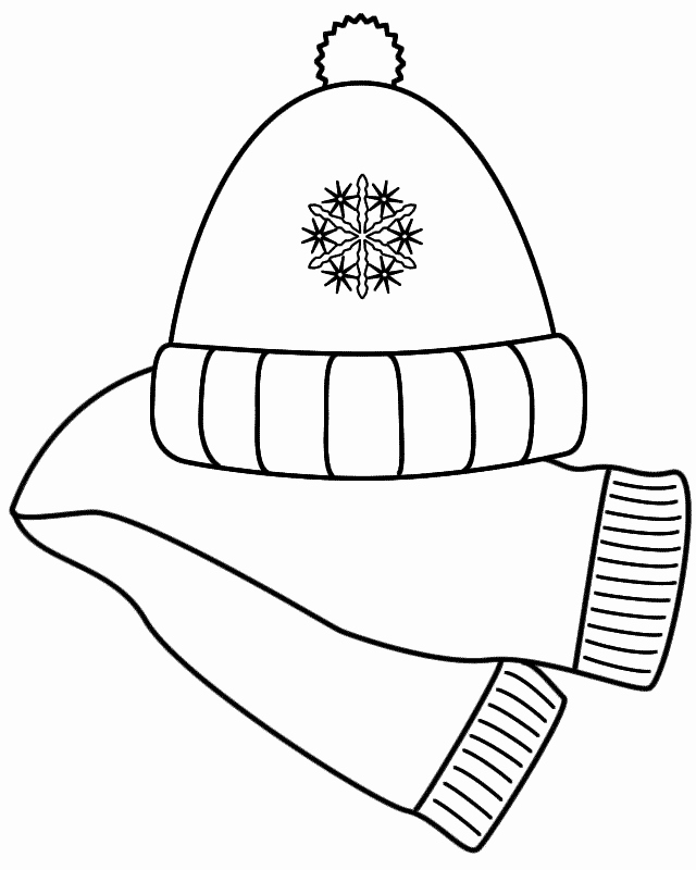 Winter hat clipart printable.