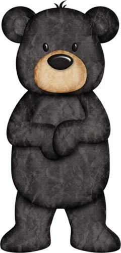 black bear clipart cute