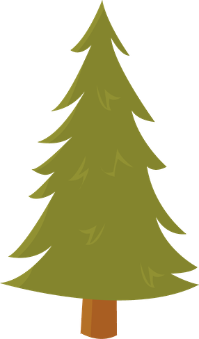 woodland clipart christmas tree