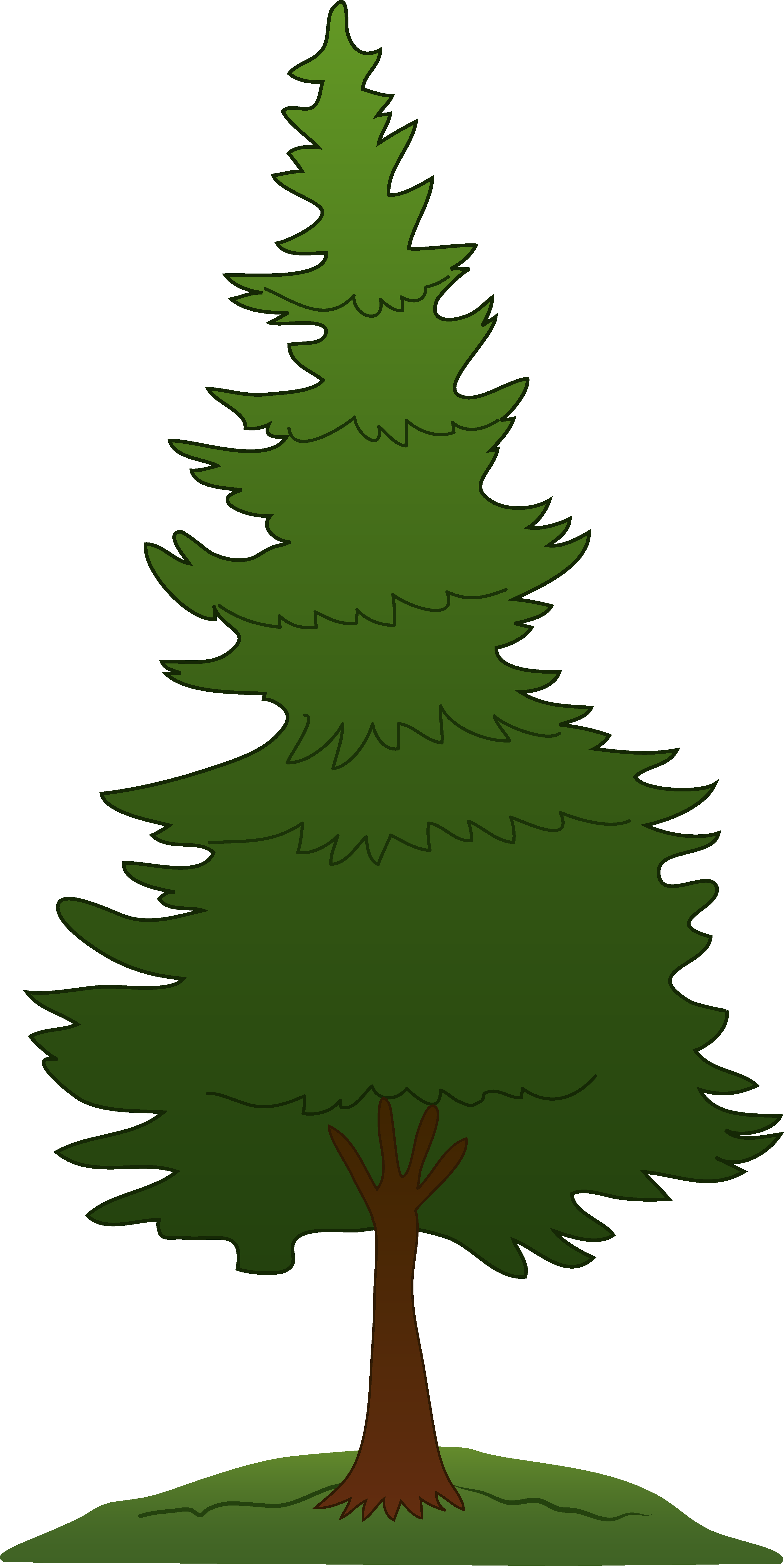 clipart trees forest