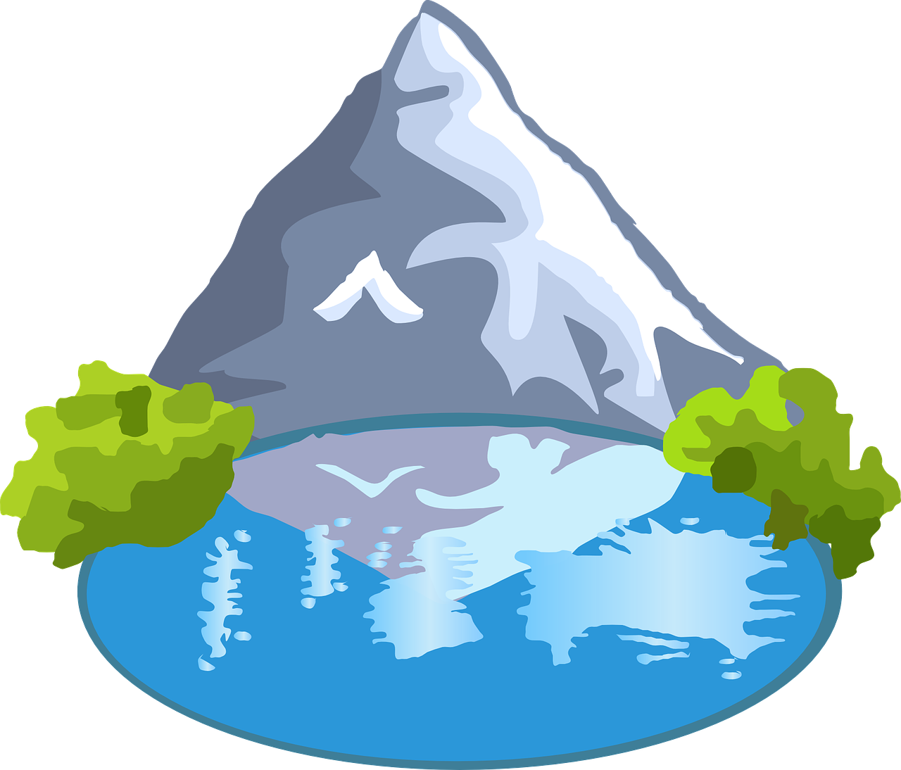 lake clipart simple