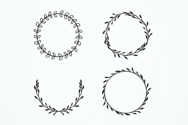 Wreath clipart svg.