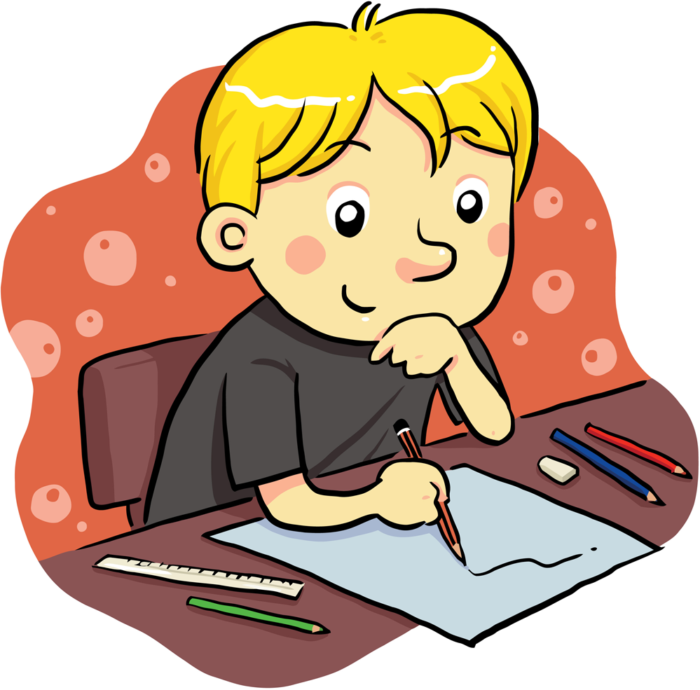 Activities clipart writing.