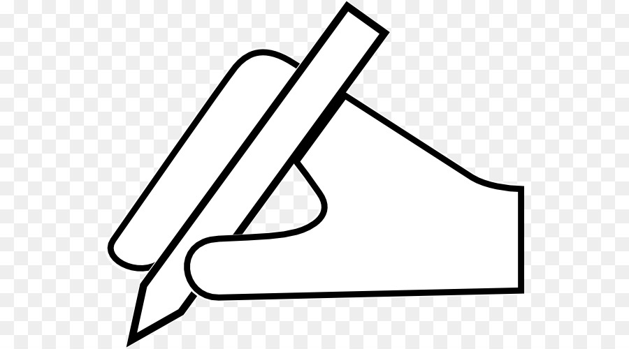 Writing clipart hand.