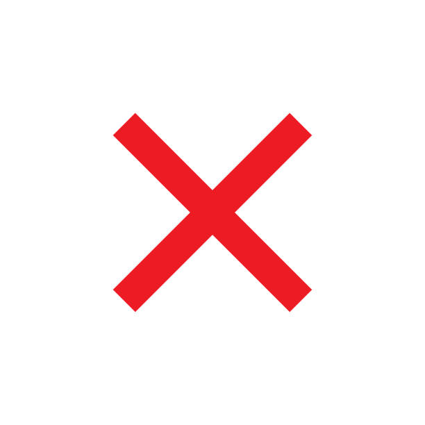 Red x clipart icon.