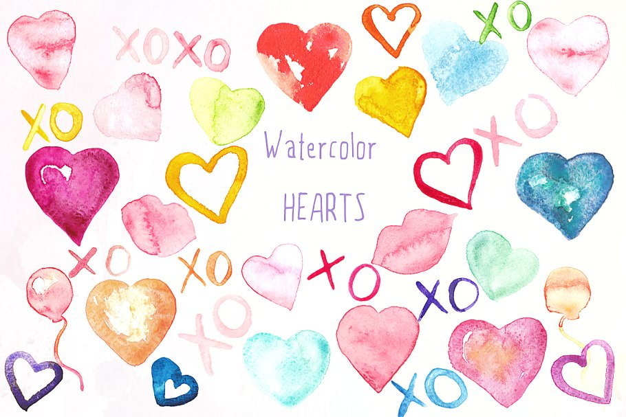 valentines clipart watercolor