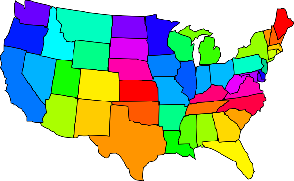 us clipart map