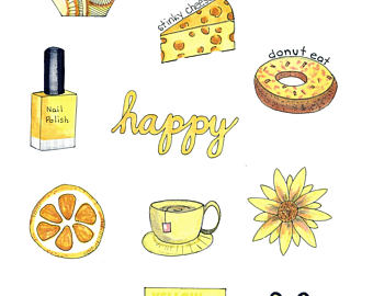Yellow clipart aesthetic.