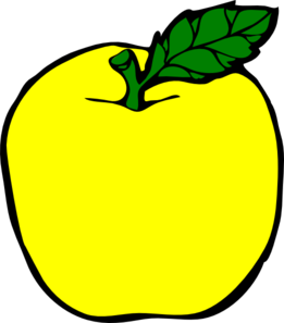 apple clipart yellow