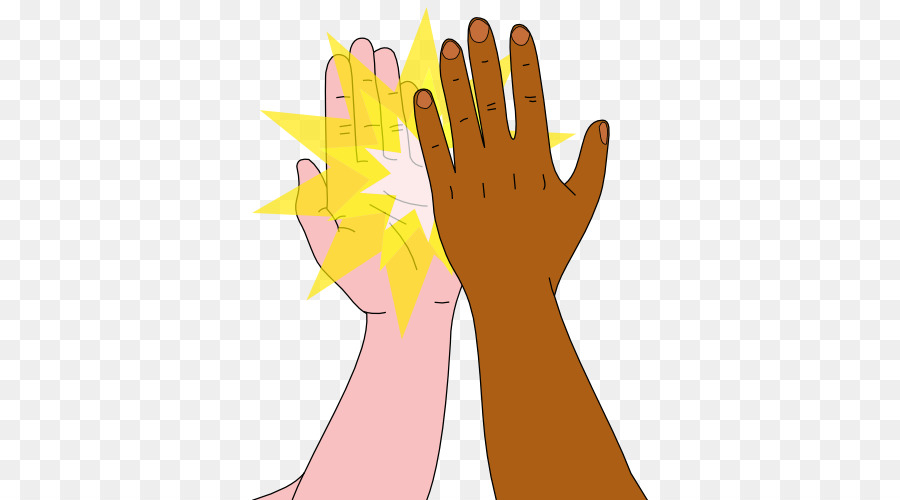 high five clipart double