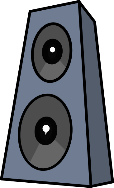 speaker clipart colorful