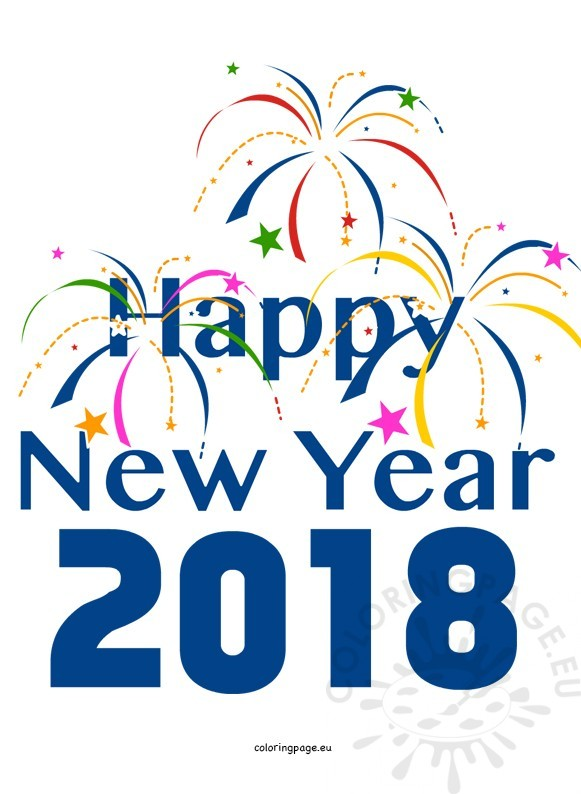 happy new year clipart blue