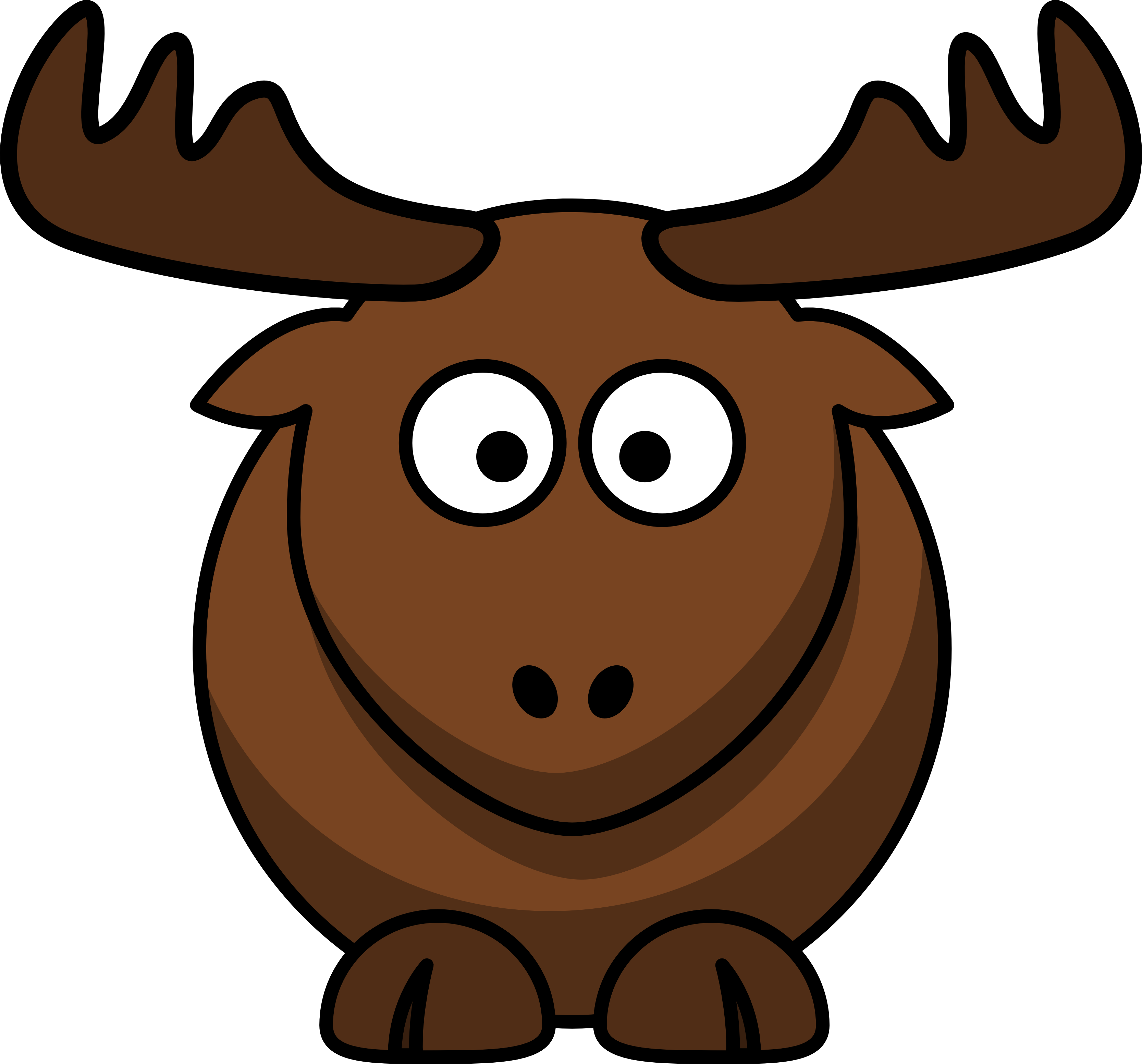 moose clipart angry