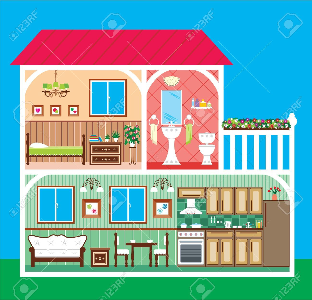 clipart home inside