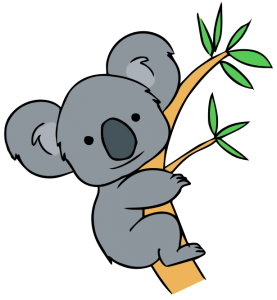 koala clipart cartoon