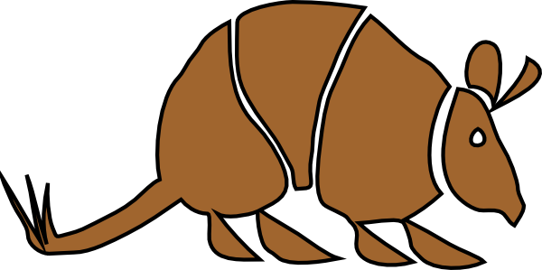 armadillo clipart simple