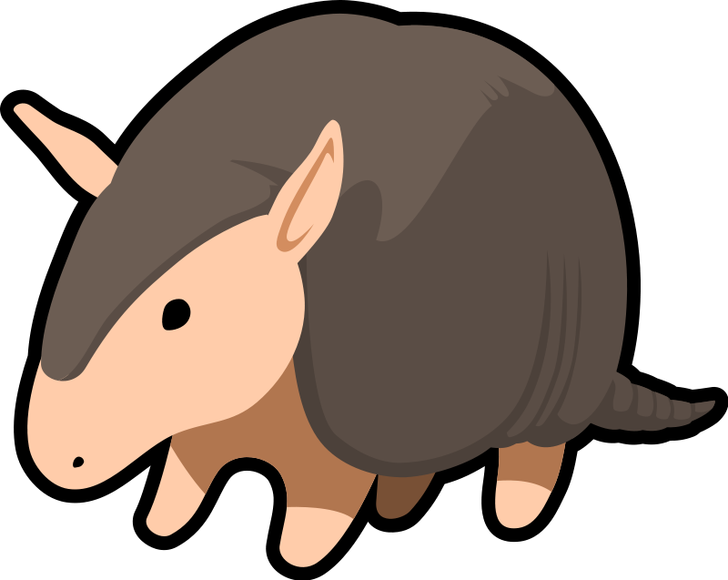 armadillo clipart cute