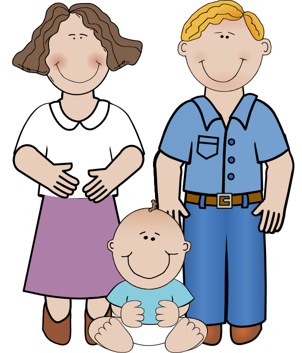 aunt clipart large family