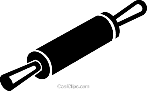 rolling pin clipart vector