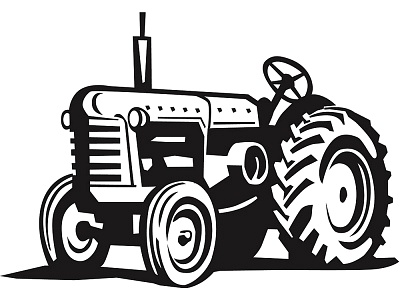 tractor clipart vintage