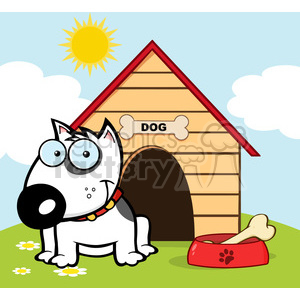 doghouse clipart outside